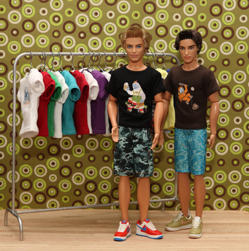 Gama-go T's by FashionistaKen on Flickr. Custom Ken doll T shirts made by Hegemony77