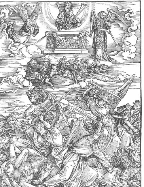 "rocknrollsamurai:  Albrecht Durer - "" The Battle of the Angels """