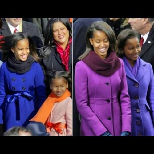 breonshaniece:  Sasha and Malia Obama then and now. #Obama2013 #Obama #inauguration