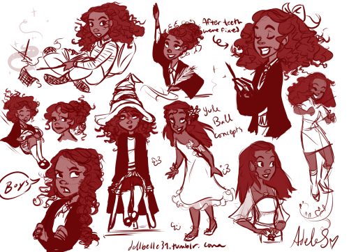 dellbelle39:  some hermione sketches~~