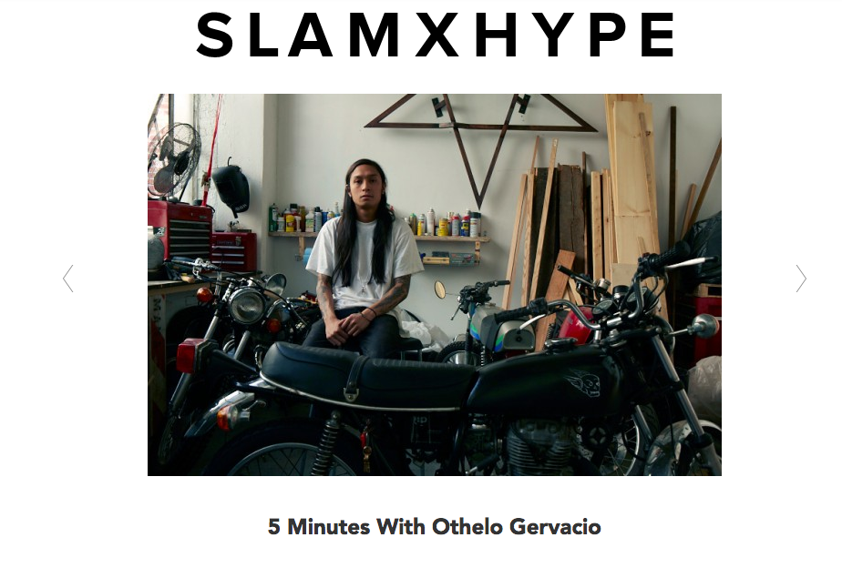 Interview on SLAMXHYPE today.  thanks dudes.
