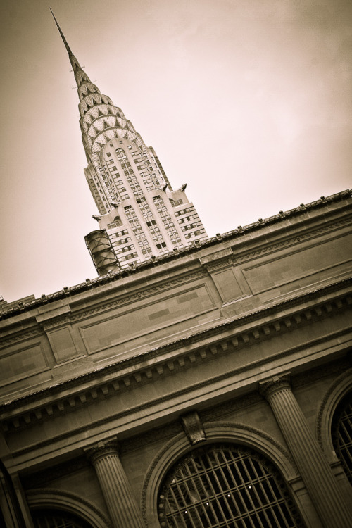 Grand Central and Chrysler Building. New York.