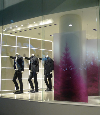 Pink Christmas.  ck Calvin Klein, Korea.  Holiday 2012.
