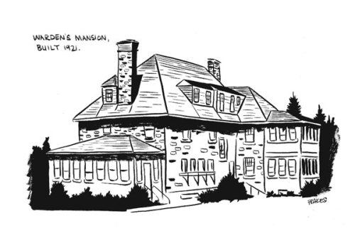 reposting old art that I don't hate- McNeil Island Warden's Mansion