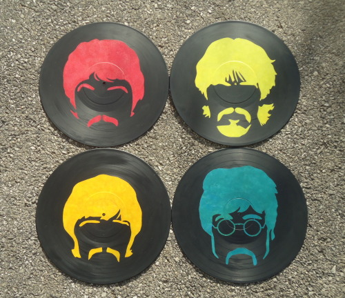 Set of four Beatles portraits, now available on LPs!