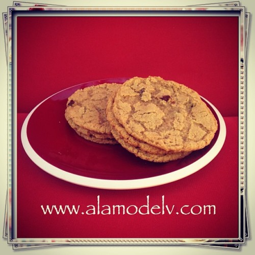 Chocolate chip cookies! So delicious. A slight crunch with a gooey center. Sweetly perfect!   Yummy gluten free, vegan, corn free, rice free & soy free and made with 100% organic ingredients.   #bakery  #cornfree  #celiacawarness #foodporn #glutenfree  #lasvegas #livingglutenfree  #organic #purevegan #plantfoodforpeople #ricefree #soyfree #vegan #vegas #veganfood #veganmofo #vegansofig #veganvegas #veganbakery #vegancookies #veganfoodshare  #veganspin  #healthyeah #FoodNetworkFaves  #chocolatechipcookies #webstapick