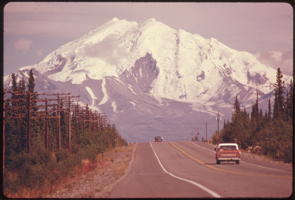 wolfandmay:  thecountryfucker:  Mt. Drum, Alaska  1974 Photo by Dennis Cowals  Plans.