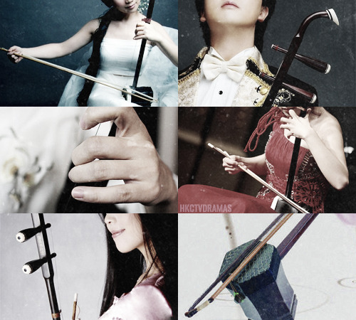 "hkctvdramas:  Musical Instrument: Erhu (二胡)  A two-stringed bowed musical instrument, sometimes called the ""Chinese Violin."" The Erhu is a versatile instrument that is used in both traditional and contemporary music arrangements.The Erhu is ideal for expressing many emotions and the sounds it produced allows the listener to experience beauty, sadness, pain, and happiness. It easily mimics weeping, sighs, and intimate chatter and can produce sounds of nature if under skillful hands. Delicate like silk, but yet leaves a lasting haunting melody in any listener's mind.   » Listen to it  