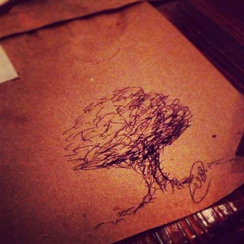 Leaving my mark ✒ #elcapataz #doodles #graffiti #ihearttrees 🌳 (at El Capataz)
