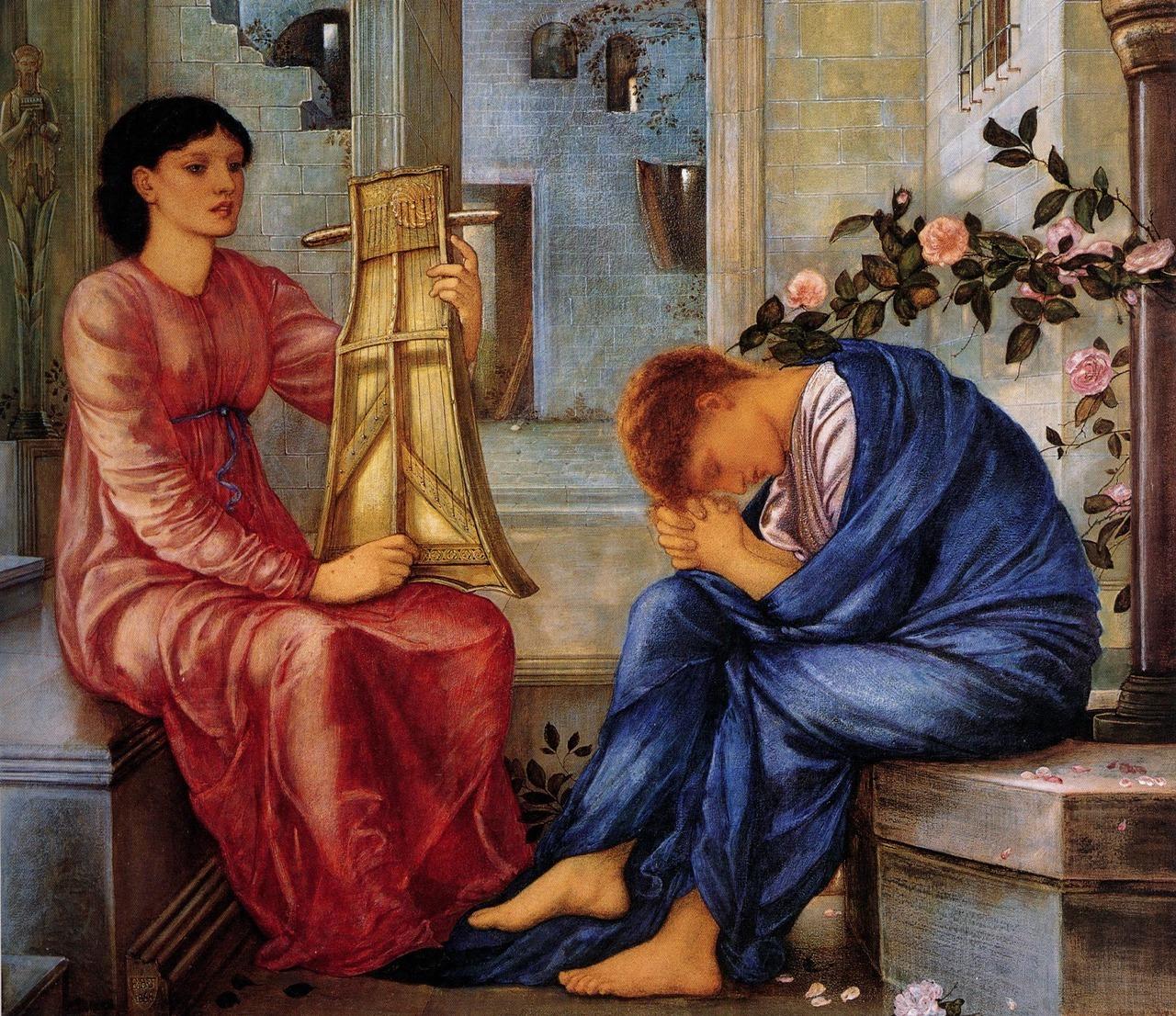 Art — Edward Burne-Jones - The Lament 1866