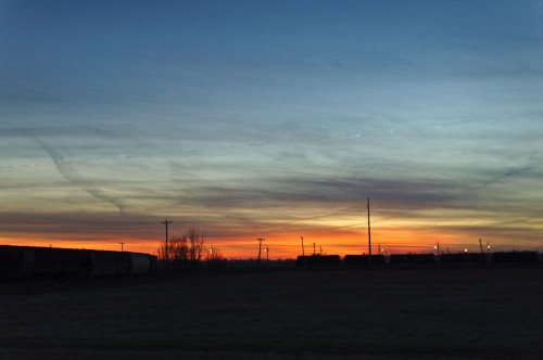 Sunset in Clarksdale, MS