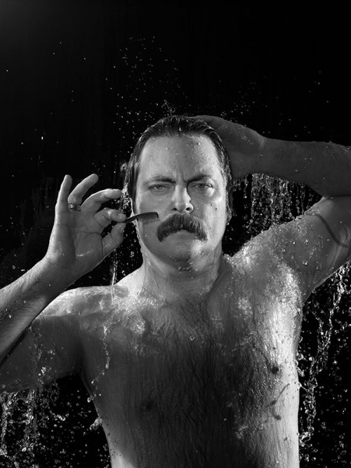 Nick Offerman by Chris Buckfor People's Sexiest Man Alive, Moustache EditionNovember 26, 2012