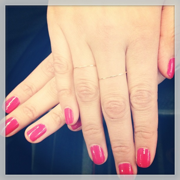 Caught fashion and beauty assistant Michelle red-handed wearing @essie Bachelorette Bash