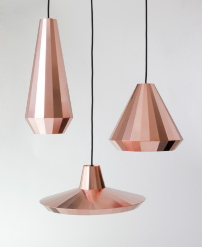 gregmelander:  GEOMETRIC BRASS Some beautiful pendent light designs by David Derksen.