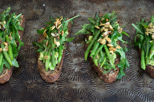 Avocado Asparagus Tartine from 101 Cookbooks