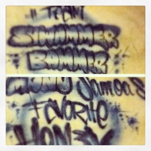 my Customized Shirt I made last year lol #picstitch #TeamShwammerBammer #HON3YMovement #ManuSamoa