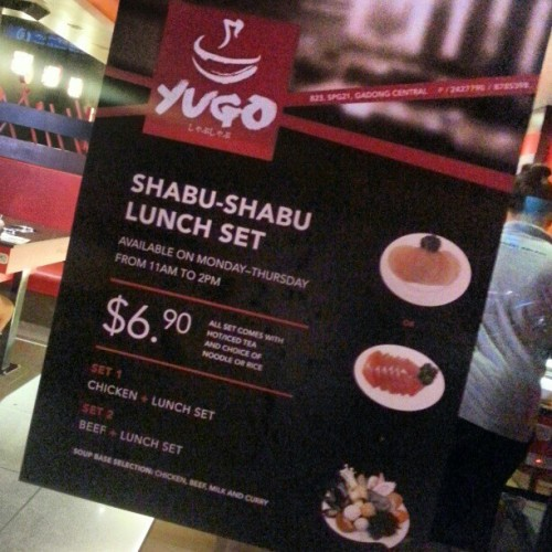 Awesome lunch deal for all you shabu shabu fans at @yugobbq. Starts 4th March onwards, available on Monday to Thursday only. #yugobbq #bruneifoodies #lovefoodhatewaste #brunei