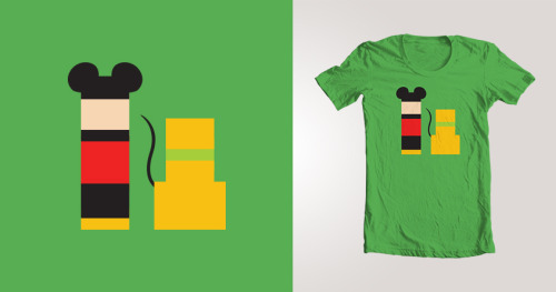 anuragdommeti:  Here's what I designed for Threadless inspired by their Mickey Mouse challenge. You can vote for it here.  Looking cool!!