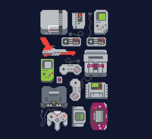 "gamefreaksnz:  ""A Pixel of My Childhood"" by Adam Jhesu Rufino Nakamura NEW from Threadless USD $20 Follow the artist on Tumblr"