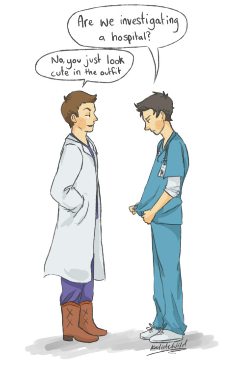 picturesquegoddess:   30 Day OTP Challenge: Day 7 (Cosplaying) Day 6 - Day 8 Doctor Sexy cosplay as chosen by Dean. He likes what he see's~