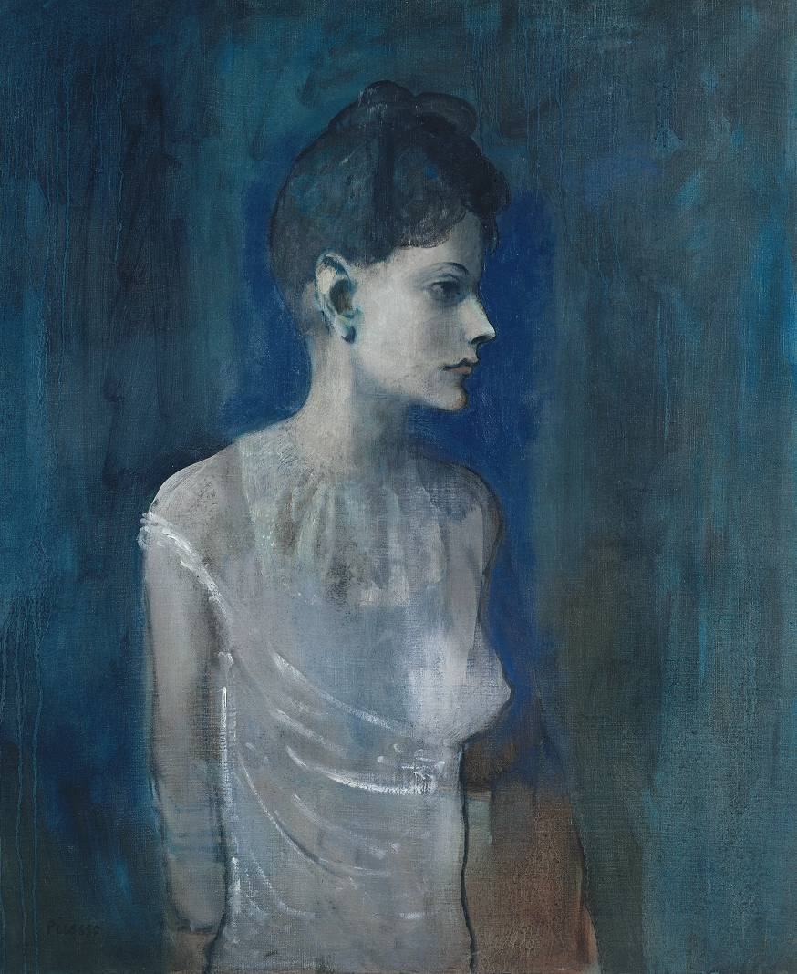 in-quo-totum-continetur:  Pablo Picasso, Girl in a Chemise, c1905, oil on canvas
