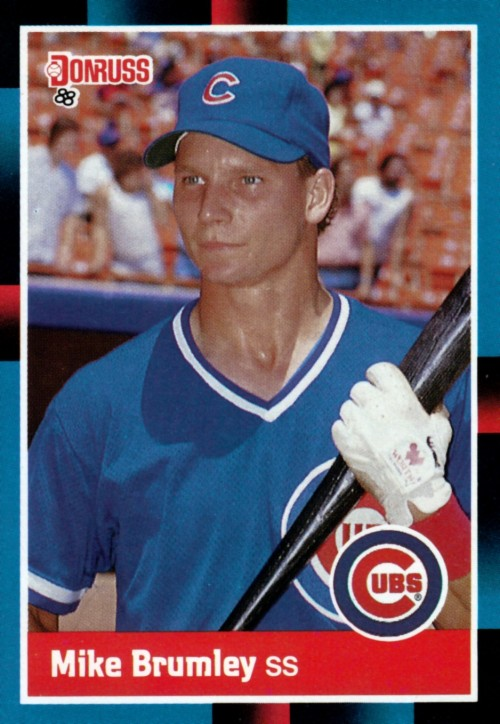 Random Baseball Card #2247: Mike Brumley, shortstop, Chicago Cubs, 1988, Donruss.