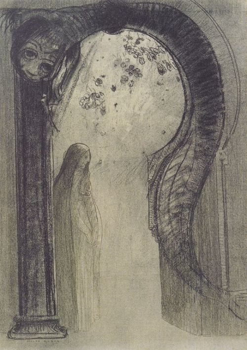 venusmilk:  Odilon RedonWoman with Serpent (source)