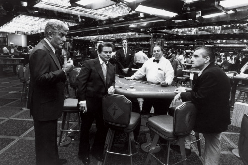 fuckyeahdirectors:  Frank Vincent, Joe Pesci, and Martin Scorsese on the set of Casino (1995)
