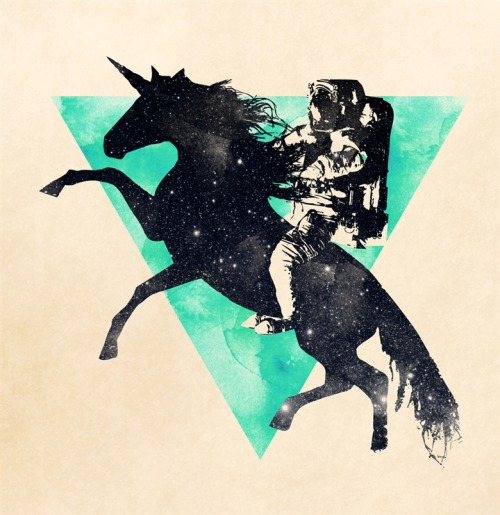 "thepolarsepulchre:  ""Ride the universe""Robert Farkas (Hungary) via Curioos  Astronaut of FOREVER."