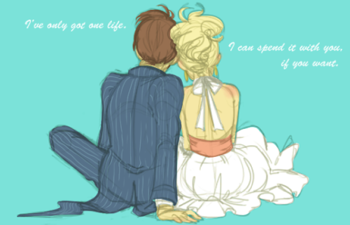 tenxrosetyler:  widdlez:  So I flipped the image, threw some basic color on it (blue pin stripped tux!) And made it my banner on facebook and then proceeded to forget to save… oops  Oh my god. This is absolutely lovely.