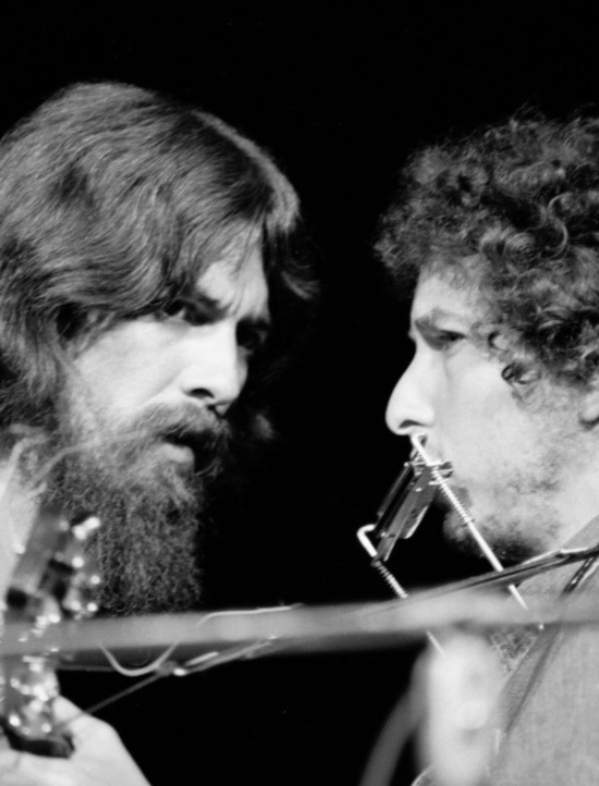superseventies:  George Harrison and Bob Dylan