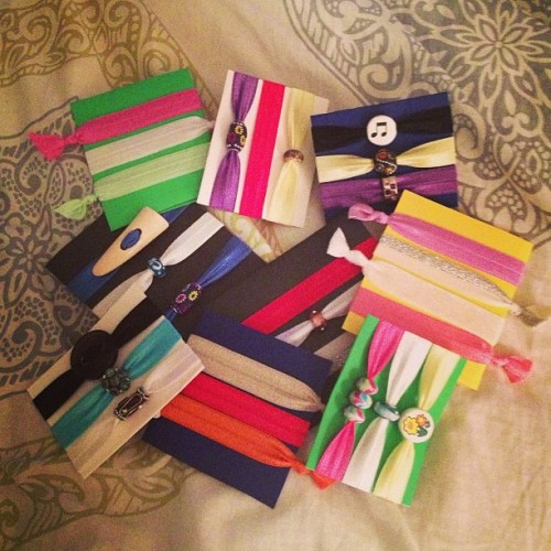 Hair ties galore! #hairties #handmade #etsy #foe #ponytail #fashion