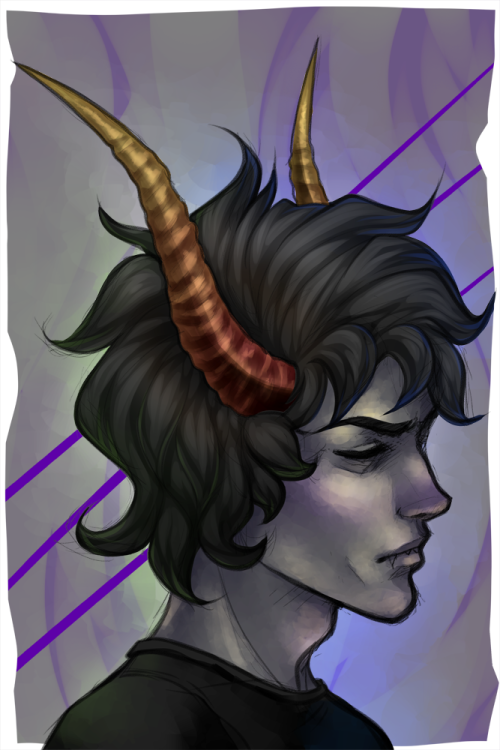 andarix:  I got a request to make the makeup-less Gamzee rebloggable on his own, so here you go.