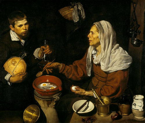Diego Velázquez - La Vieja friendo huevos, 1618