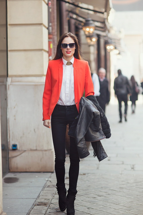 Coco Rocha off duty in Paris