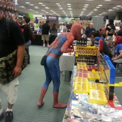 Oh you know, #spidey just shopping. My first comic expo experience was awesome. #nerdlife #comics #marvel #spiderman