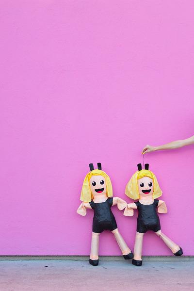 DIY dancing girls emoji pinata via Studio DIY