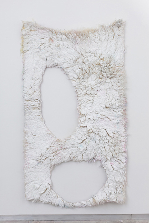 nicoonmars: 'Milk Tooth' 2012 by Anna Betbeze Ash, plaster and gesso compound, acid dyes on wool  Kate Werble Gallery