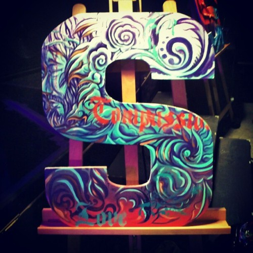 End result of my #painting at #mosaicla 7pm gathering. #live #letters #podcast #livepainting #painting #acrylic #art #latexpaint #church #Christian #christianhipsters #hipster #Sunday #faith #god #love #JesusChrist #instagod #dailypic #igdaily #instadaily #jj #hollywood #la #losangeles #igersla  (at Mosaic Hollywood)