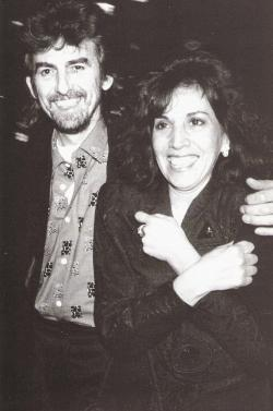 "thateventuality:  thateventuality:  Scan - George and Olivia Harrison Personally, my favorite couple, who stuck out highs and lows together - see ""Living in the Material World""… who seemed to be very much on the same wavelength… who raised a grounded, nice person like Dhani… Moreover, it was Olivia who helped him through the troubled times in 1974 and such, who was with him until he lost his life - and indeed, who saved his life during that awful attack in 1999. For that alone, anyone who values George is indebted to Olivia. Long story short: Fantastic people, fantastic couple.  ""I love you, George. The joys, sorrows, lessons and love we shared are more than enough to fill my heart until we meet again."" - Olivia Harrison, January 2002, Harrison by the editors of Rolling Stone"
