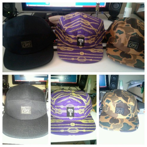 Pickups from the weekend. #obey #stussy #hats