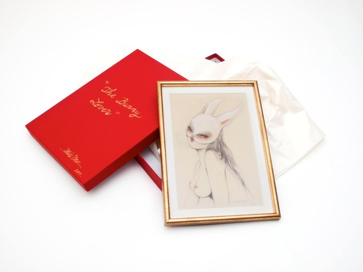 """BUNNY LOVER"" GICLEE PRINT 