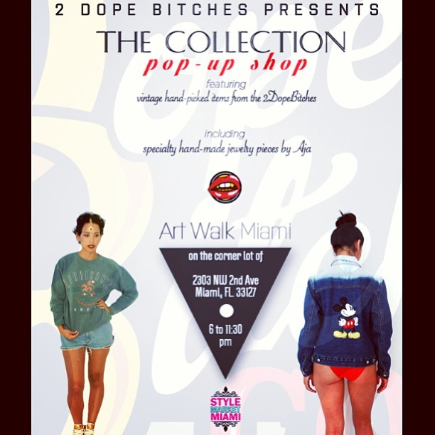 Art Walk TOMORROW 5/11 check me and @normaisthebest at THE COLLECTION's First Ever Pop Up Shop! On 23rd and NW 2nd, 6-11:30 pm! Find some dope, unique, One-Of-A-Kind vintage, accessories, and jewelry by me! Oh, one more day till Mother's Day- come shop! 🌹 (at www.SHOPTHECOLLECTION.net)