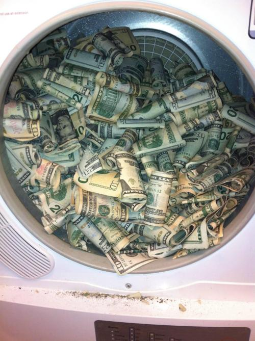 "goodnightmysweet:  ""Hey Mom, i found some money in the dryer. Do you know whose it is? ""No i don't, how much is there?"" ""Not much.""  ""Okay then just keep it."" ""Okay, i will."""