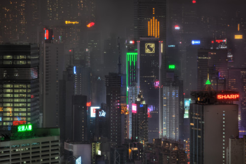 "skyscraper:  ""Blade Runner"" or Hong Kong? 