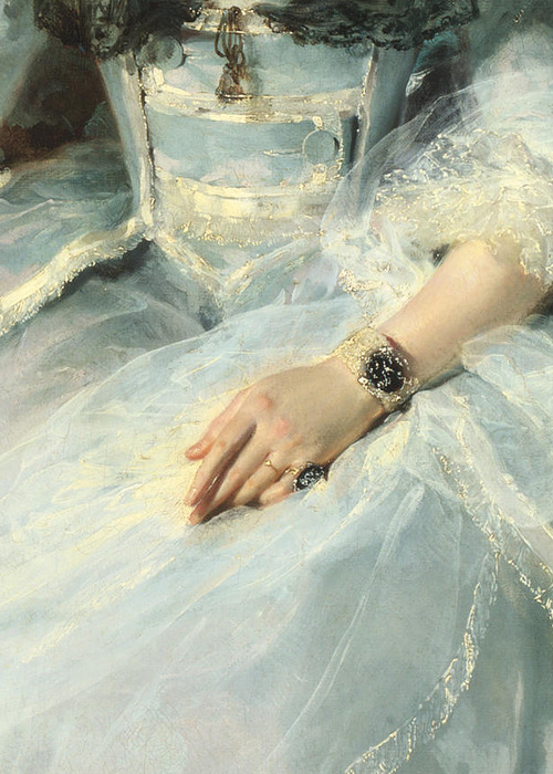 Thomas Lawrence, Queen Charlotte (detail) 1789 (x)