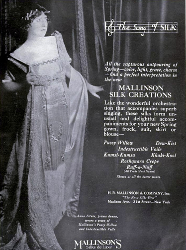 How amazing is this advert from Mallinson's Silks de Luxe? | 1919 Click me for the link!