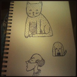 Day # 24 A couple doodles in between packing :) #sketches