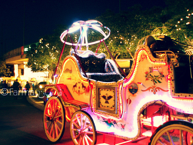 A buggy decorated with LED lights at Port Grand on Flickr.