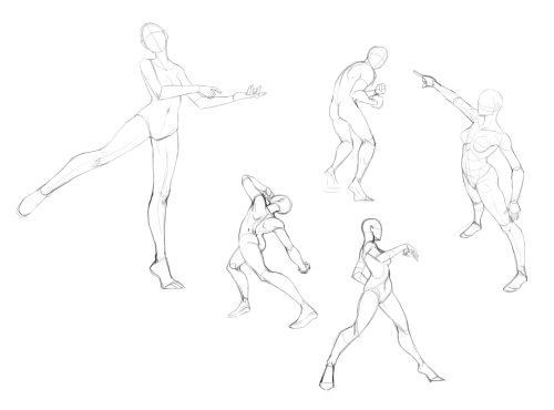 Posing practices from some excellent pose sketches by someone else. Can 't remember who did the original sketches or if these somewhere down the line there's photo ref for these that was used. roflEither way done from ref. This was my day on Tues. since I had no net that day. lol